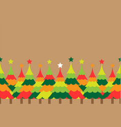 christmas tree with colorful background vector image