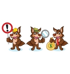 Coyote Mascot with money vector image vector image
