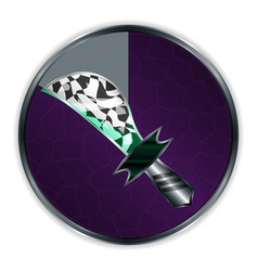 dagger in progress frame vector image