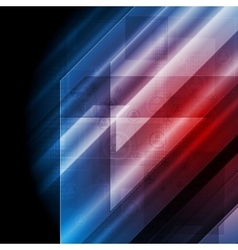 Dark blue red tech background vector