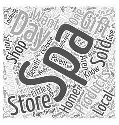 Day spa stores why you should shop there word vector