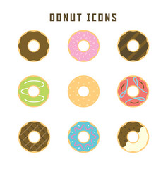 Donut icons vector