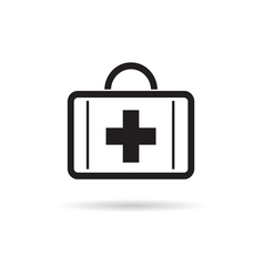 first aid case icon vector image vector image