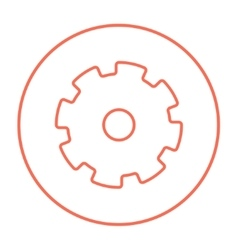 Gear line icon vector