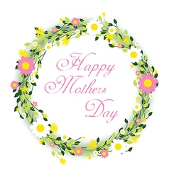 Happy mothers day floral vector