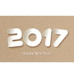 Happy new year 2017 background with paper vector