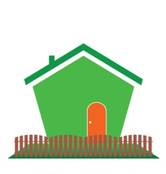 house in green color vector image vector image
