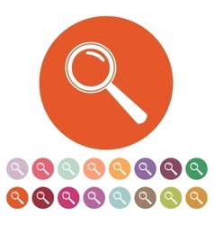 Magnifier Glass Search icons Set vector image vector image