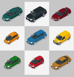 modern car set vector image vector image