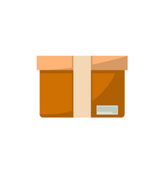 packing box isolated icon in flat style vector image vector image