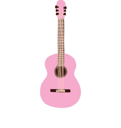 Pastel Pink Guitar vector image vector image