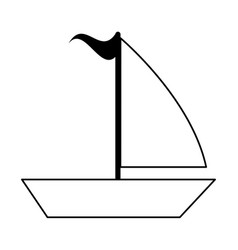 Sailboat with flag icon image vector