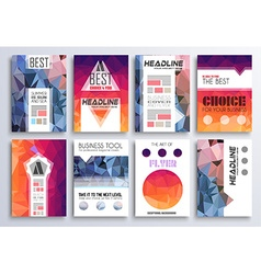 Set of Brochure Flyers and layout templates for vector image vector image