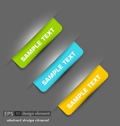 set with colored label vector image vector image