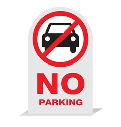 Sign on parking design vector