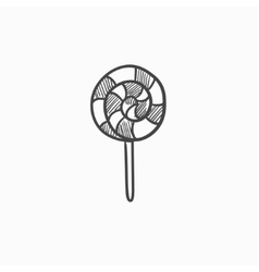 Spiral lollipop sketch icon vector image vector image