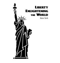Statue of Liberty black isolated silhouette vector image vector image