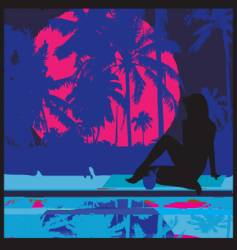 tropical nights vector image