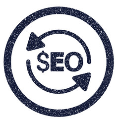Update seo rounded grainy icon vector