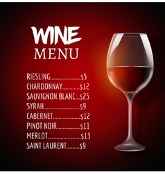 Wine menu card design template Wine list template vector image vector image
