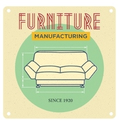 Vintage advertising furniture vector