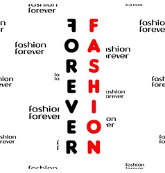 Fashion forever seamless pattern black red vector