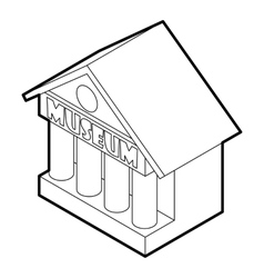 Museum building icon outline style vector