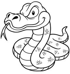 Snake outline vector image