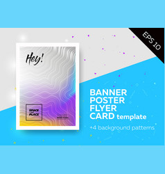 Bright template with text grid trendy geometric vector