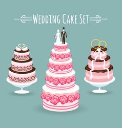 wedding cake set vector image