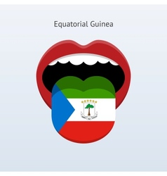 Equatorial guinea language abstract human tongue vector