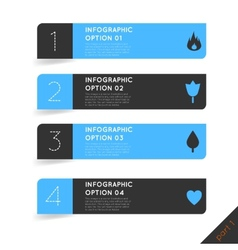 Infographics options banner steps set with icons vector