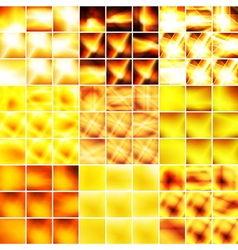 Yellow and orange big set of backgrounds vector