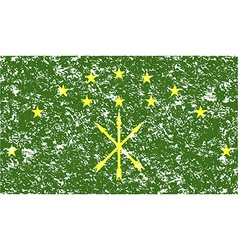 Flag of adygea with old texture vector