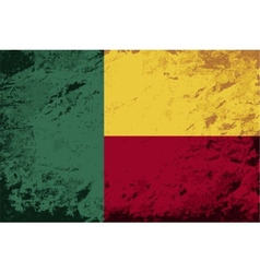 Benin flag grunge background vector