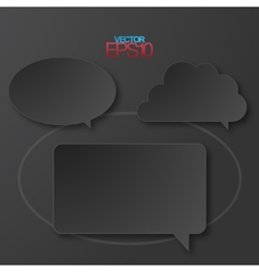 Modern flat design speech bubbles vector