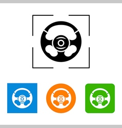 Steering wheel - icon isolated vector