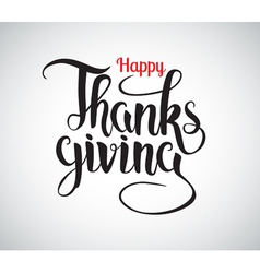 Happy thanksgiving hand drawn calligraphy vector