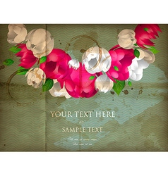 Romantic floral bouquet vector