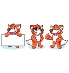 Fox mascot happy vector