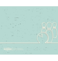 Creative bowling art template vector