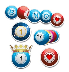 Bingo stickers set2 vector