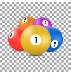 balls for snooker and billiards in 3d style vector image vector image