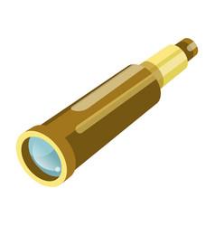 binoculars or spyglass flat isolated icon vector image