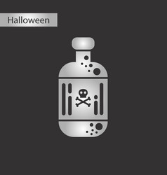 black and white style icon potion in bottle vector image vector image