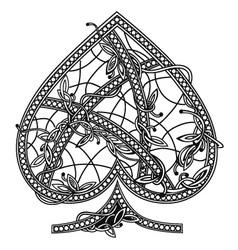 Card suit spades vector
