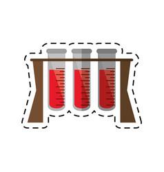 Cartoon test tube rack medicine laboratory vector