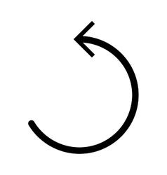 Circle arrow pointing icon vector