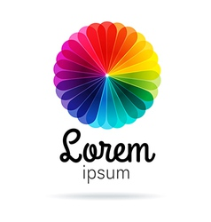 Colorful flower branding symbol vector image vector image
