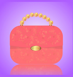 detailed red female handbag on a white background vector image